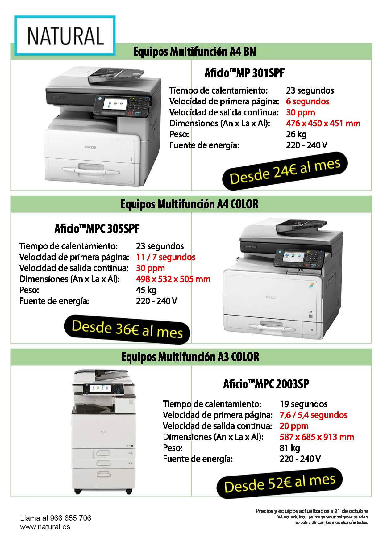 oferta impresoras